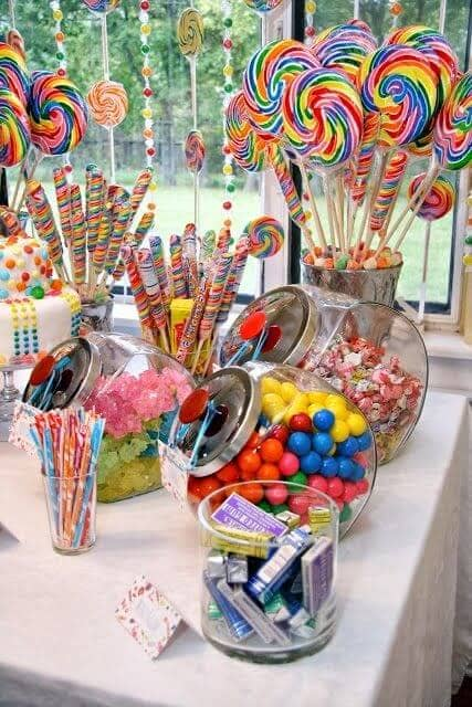 Fun and Colorful Birthday Candy Buffet