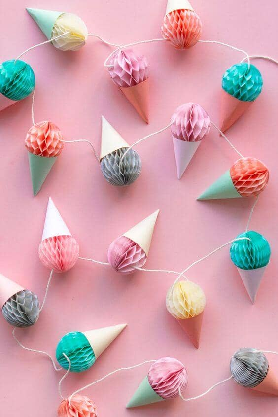 Sweet and Simple Ice Cream Cone Garland