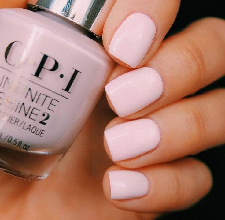 Ballerina Pink Short Nail Design