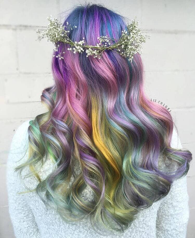 Pastel Ombre Rainbow Mermaid Hair