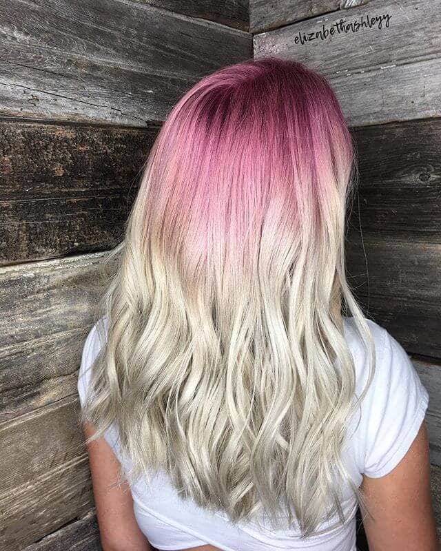 Pink and Platinum Ombre Style