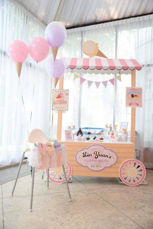 Ice Cream Parlor for Baby's First Birthday