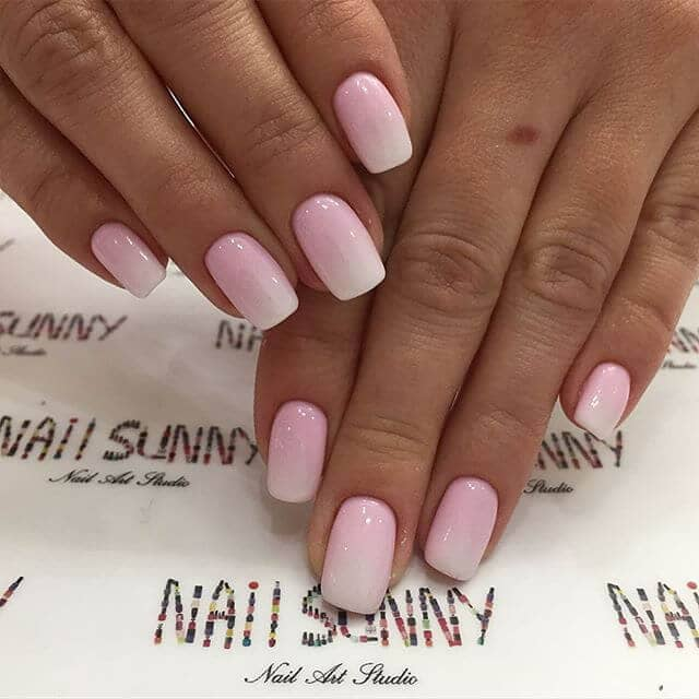 Fantastic Pink and White Ombré Design