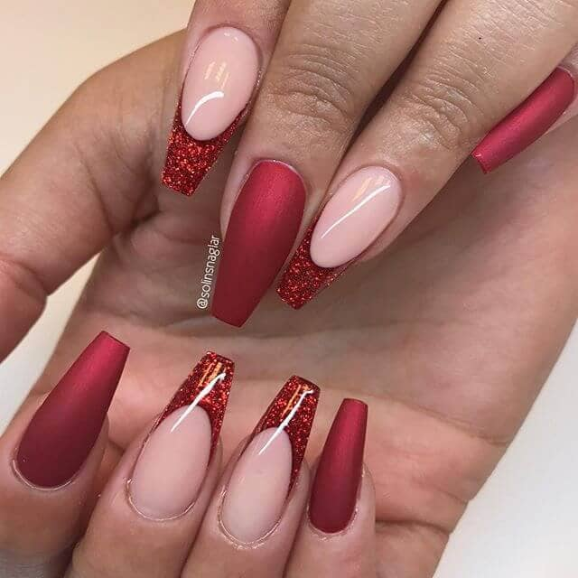 Santa Claus is Coming - Red Matte And Glitter