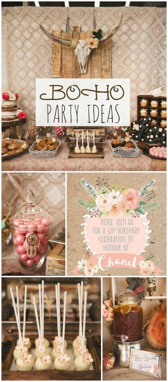 Sophisticated Bohemian Boho Party Decorations