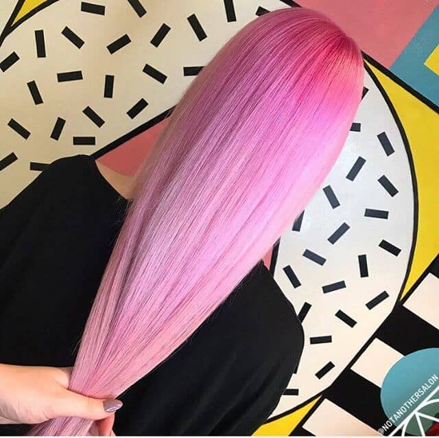 Long and Sleek Pink Mermaid Hair