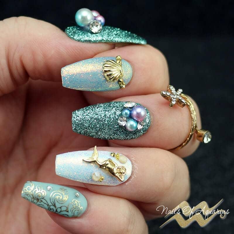 Sea World Spectacular Luxury Nail Art Design