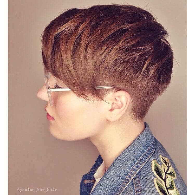 Undercut Pixie With Choppy Side Bangs