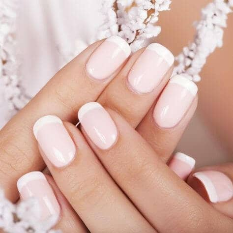 Nails in the Palest Pink