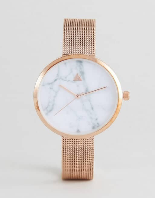 Minimalist and Bold Wrist Watch in Rose Gold