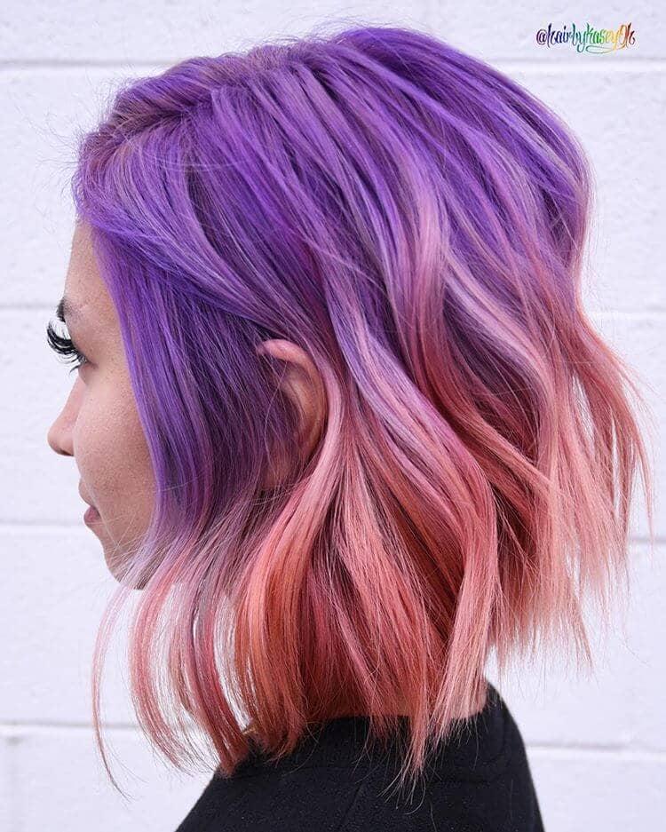 Fabulous Fuchsia Pink Ombre Waves