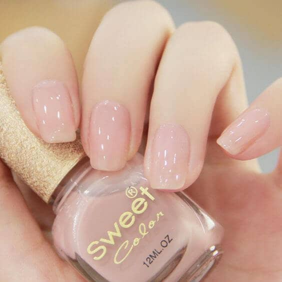 Pink As A Neutral Color - Nude Pink Nails