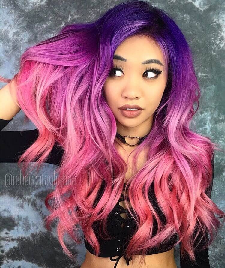 Purple and Pink Ombre Waves