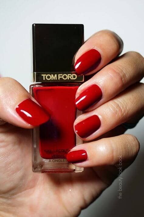 High Fashion Glossy Red Nails