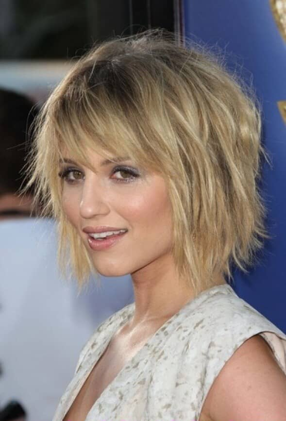 Layered Blonde Bob With Choppy Bangs