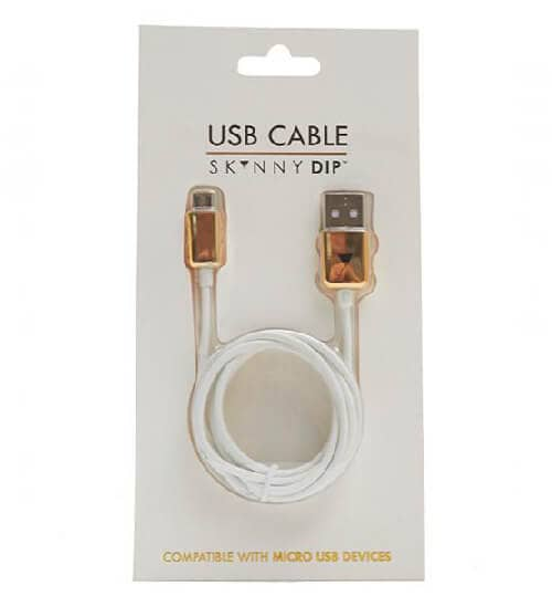 Stylish and Neat USB Cable with White and Gold