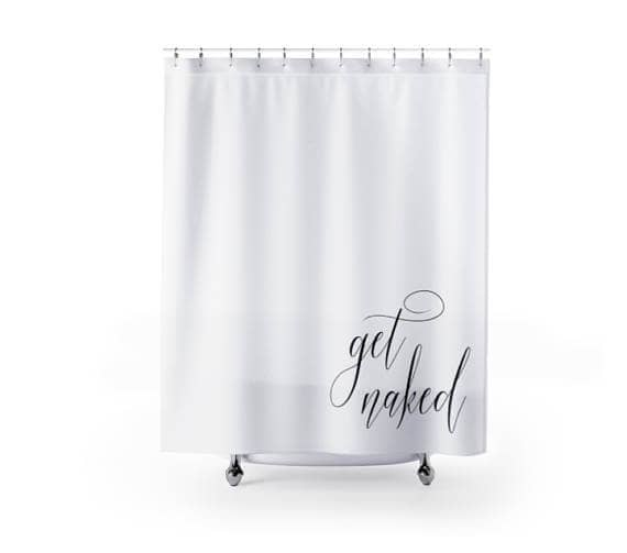 Simple and Unique Shower Curtain for Getting Naked
