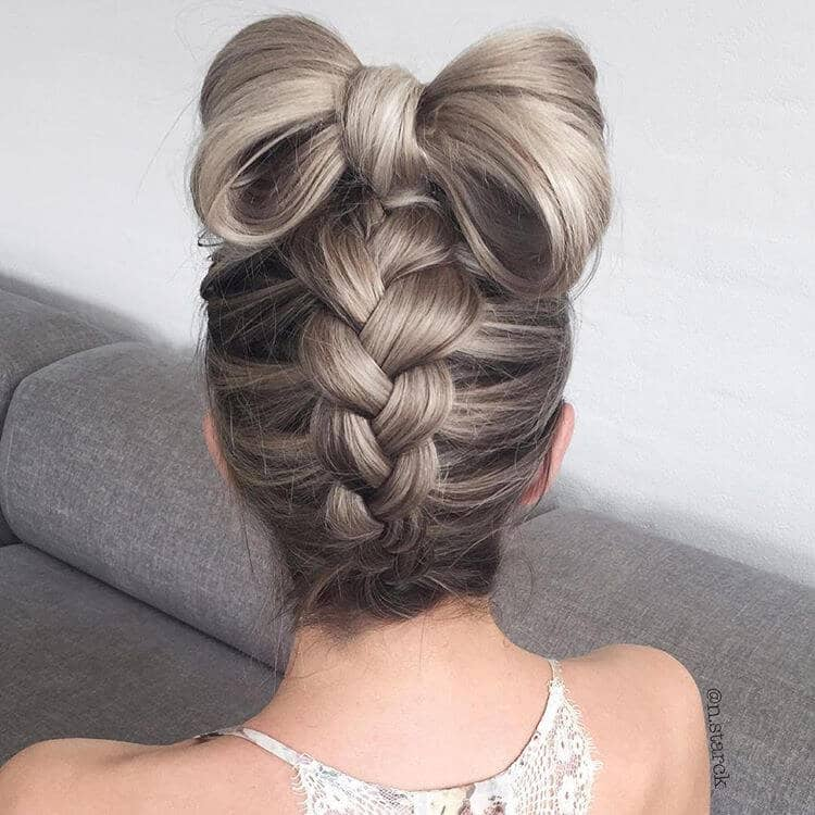 Upswept Hair with Self Made Bow