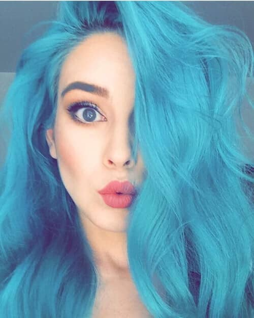 Mermaid Hair Light to Medium Blue