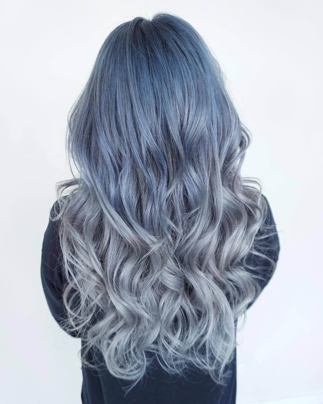Denim Colored Hair Shade Long