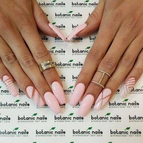 Pastel Pink Natural Manicure With A Twist