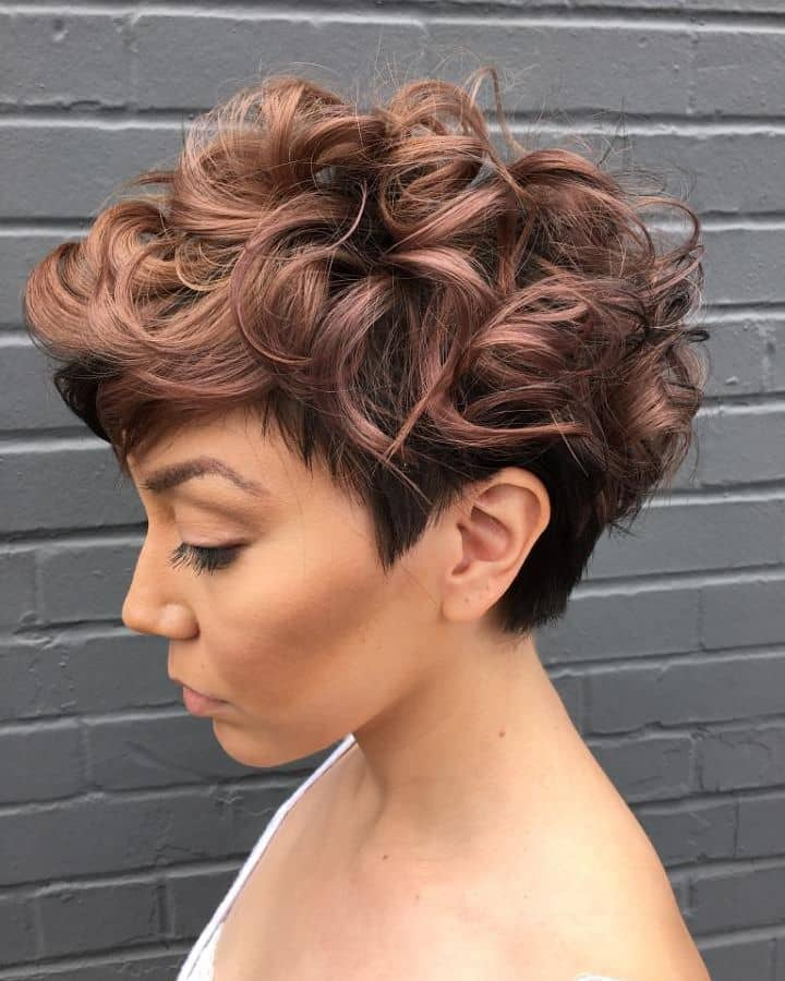 Short And Sweet Top Curl Pixie Cut