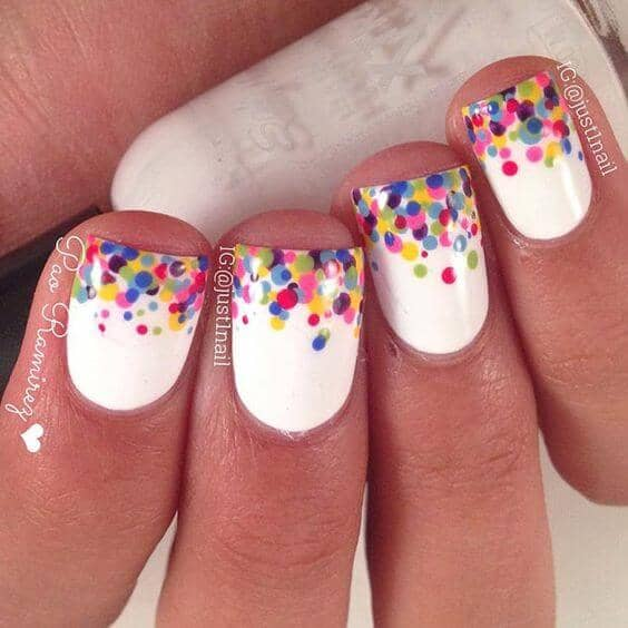Colorful Confetti Nails for You