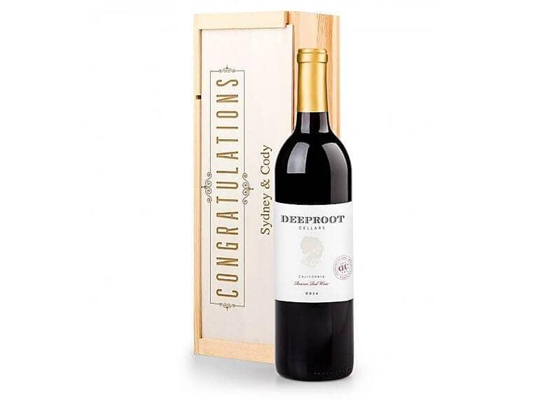 Personalized Congratulatory Wine Crate