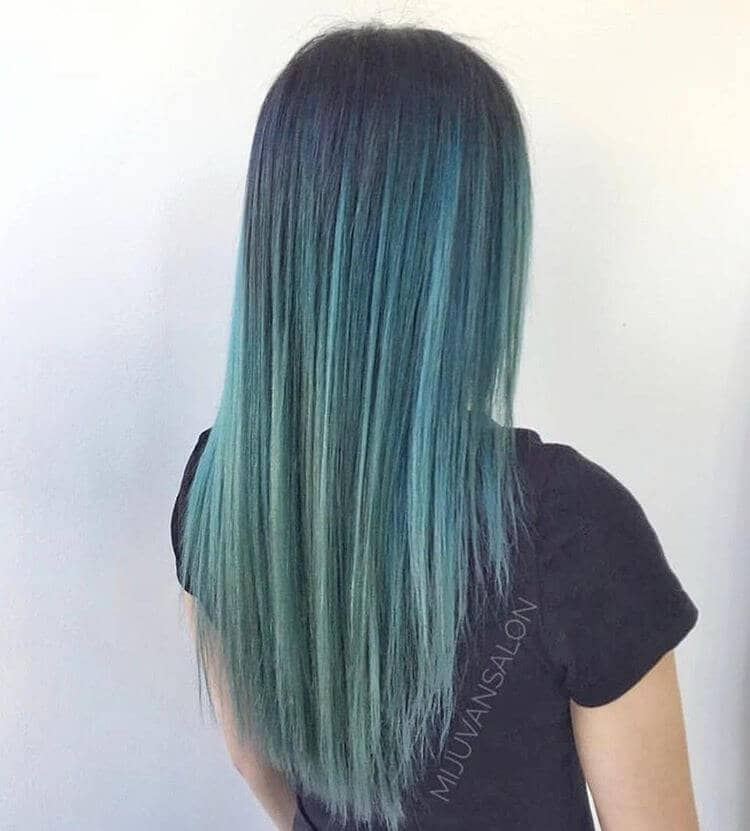 Mermaid Hair Blue Green Shade