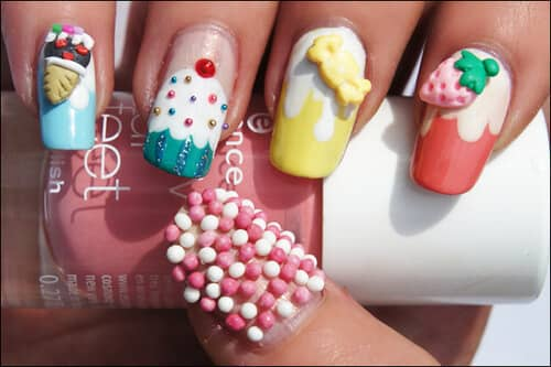3D Birthday Nails that Stand Out