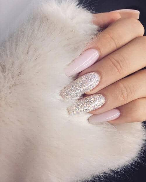 Snow Queen Light Pink Shimmery Glitter