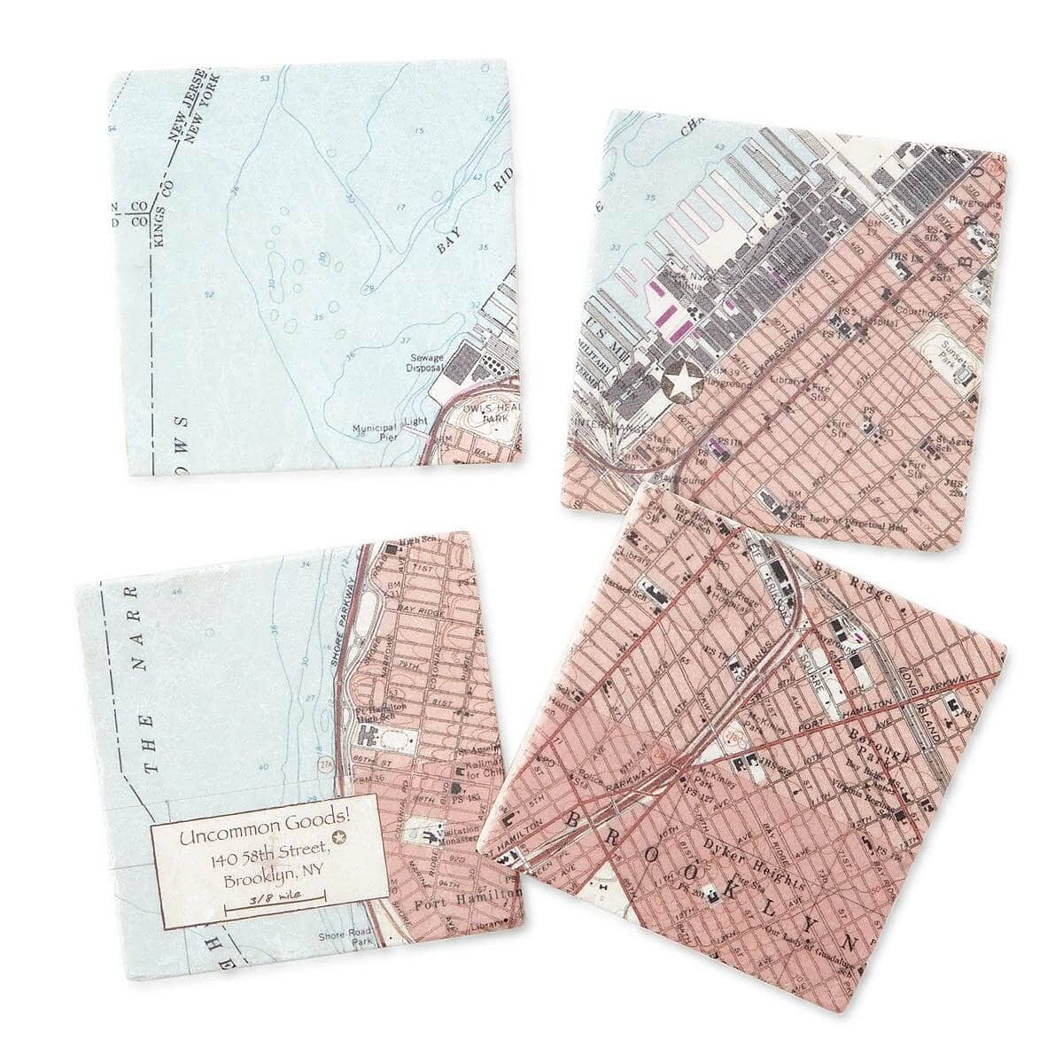 Custom City Map Coaster Set