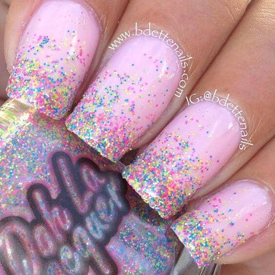 Pink and Glitter for a Festive Look
