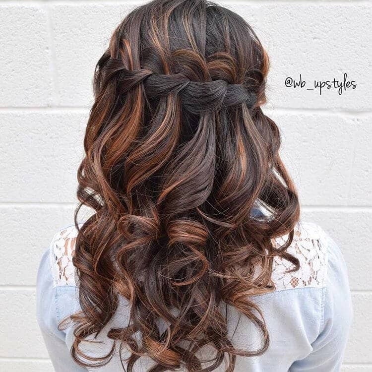 Gorgeous Side-Swept Braid with Ringlet Curls