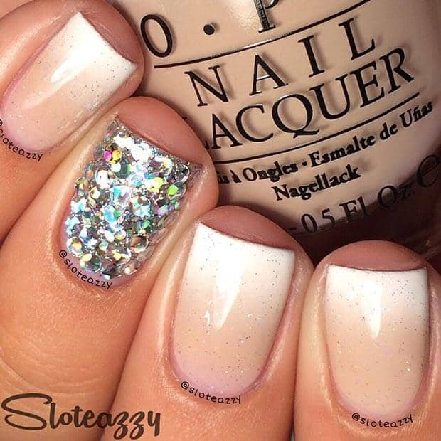 Combining Gradient Polish with Super Glitter