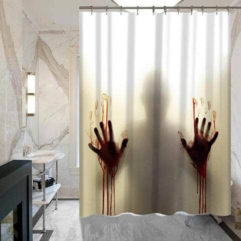 Creepy and Unique Zombie Shower Curtain Gift
