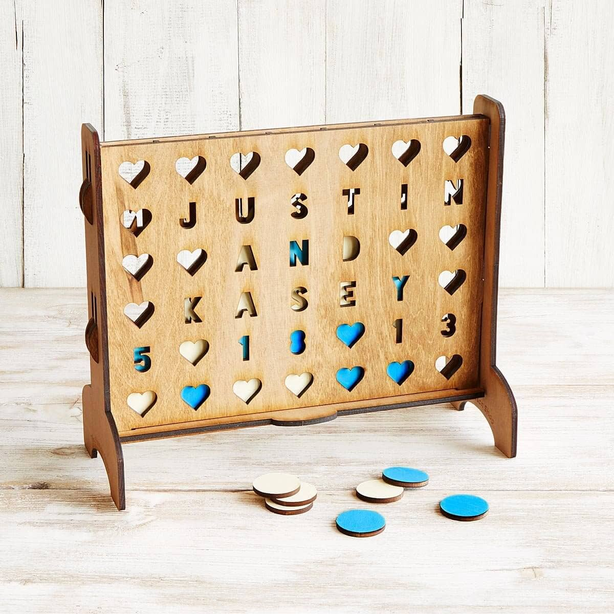) Personalized Hearts Connect Four Game