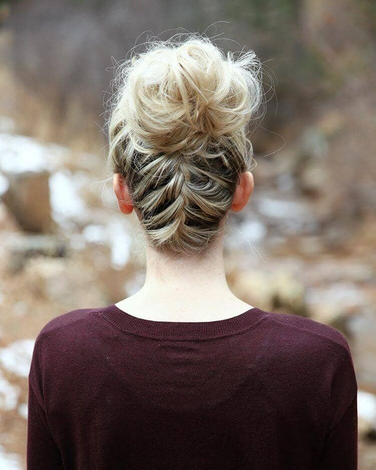 Braided Up with a Messy Bun