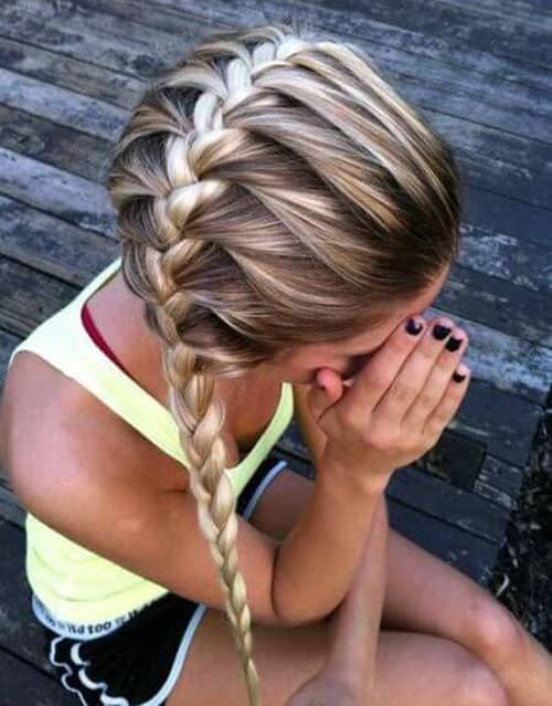 Braid to the Side for an Active Look