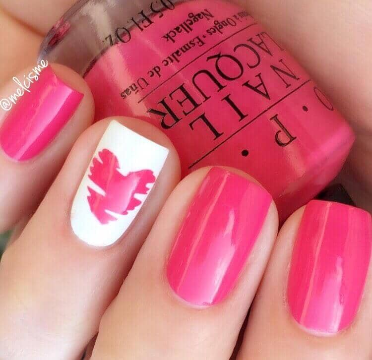 Bold Heart Design in Hot Pink