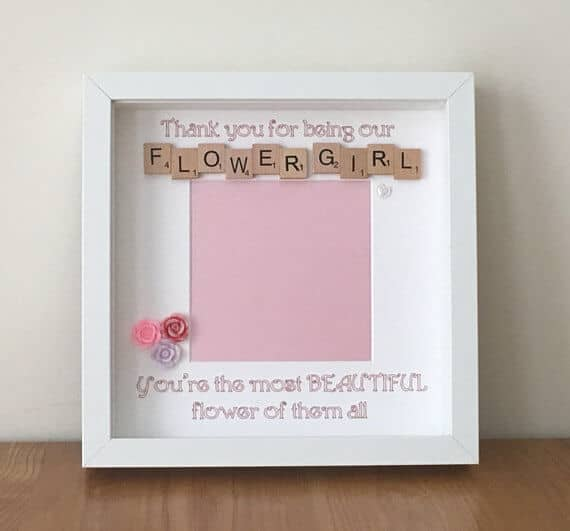 Flowery Frilly Flower Girl Frame