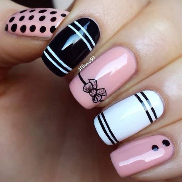 Sophisticated Pink and White Classic Design