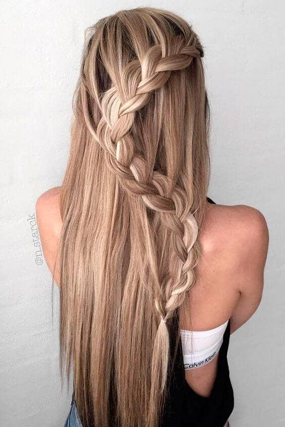 S Curve Braid for Long Hair