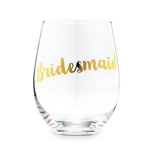 Gorgeous Gold Lettered Stemless Wine Glass