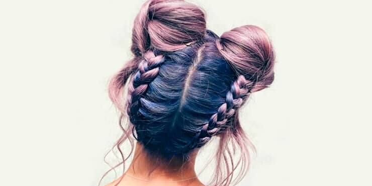 Awesome Color and Space Buns Style