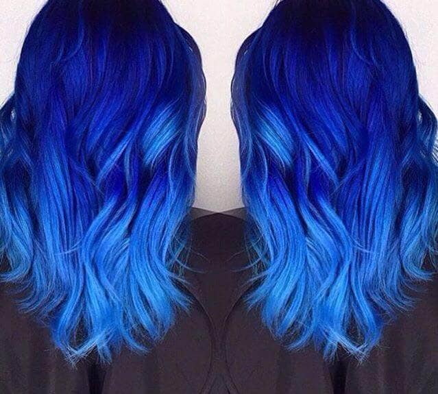 Dark Blue Faded into Light Blue