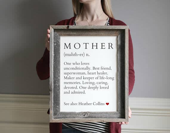 Definition of a Mother Custom Sign