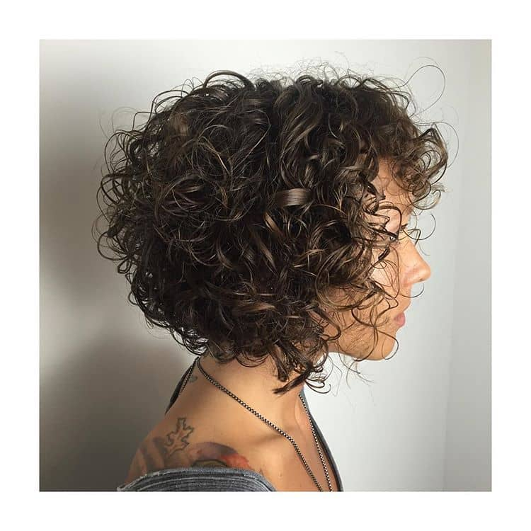 Subtly Swirling Layered Short Curls