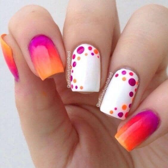 Unique Nails with Orange Gradients
