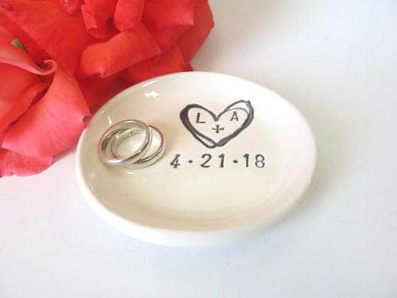 Personalized Ring Dish Ring Holder
